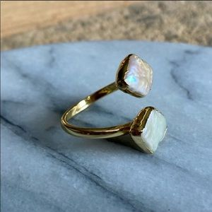 Natural fresh water Pearl ring